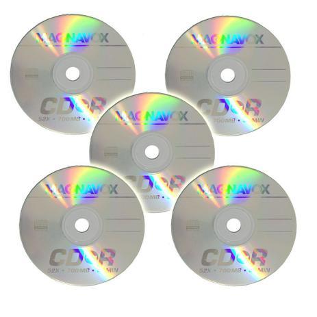 Imagem de Kit com 5 CD-R 700 MB Magnavox