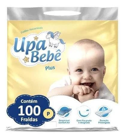 Imagem de Kit com 5 Fralda Descartável Infantil Upa Bebê Plus Atacado Barato Revenda P