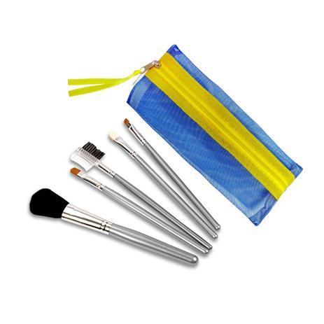 Imagem de Kit com 5 Pincéis de Maquiagem Color Beauty Care Ana Hickmann Azul - Relaxbeauty RB-CP4149