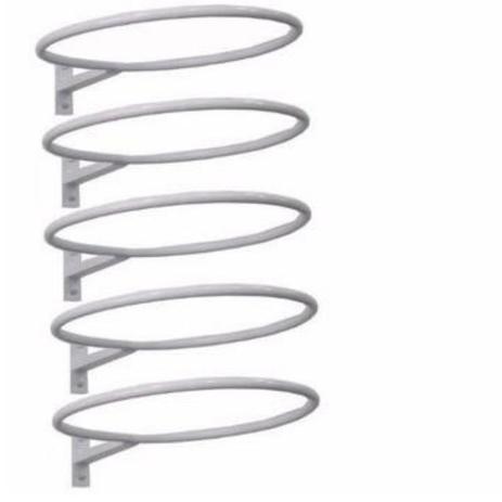 Imagem de Kit com 5 suportes reforçados de parede  para bola suiça (bola pilates)