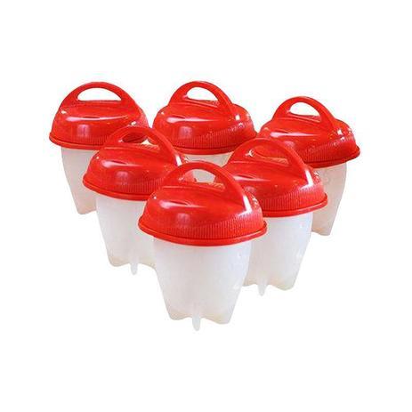 Imagem de Kit com 6 Formas Copo Silicone Para Ovo Cozinha Fogão