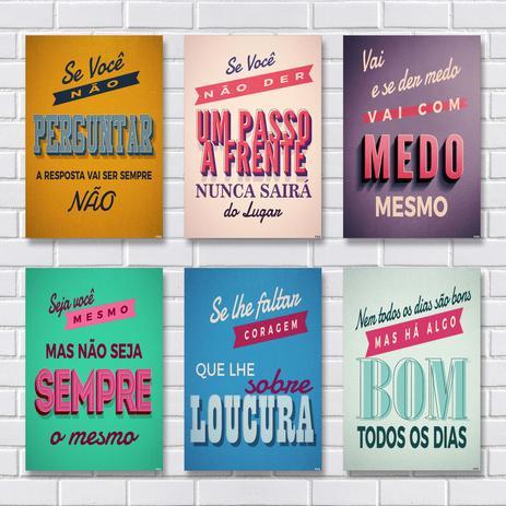 Kit Com 6 Placas Em Mdf Frases Motivacionais R Adesivos