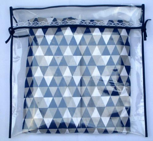 Imagem de Kit com 6 Saquinhos de Maternidade de Viés Azul Marinho