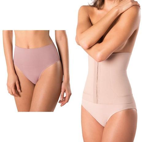 5acd55adf Kit com Cinta Loba Slim e Calcinha Loba Redutora Nude Slim - Lupo ...