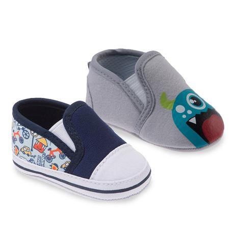 829d7a45ab Kit com Dois Sapatos Masculino Cinza e Azul- Pimpolho - Tênis para ...