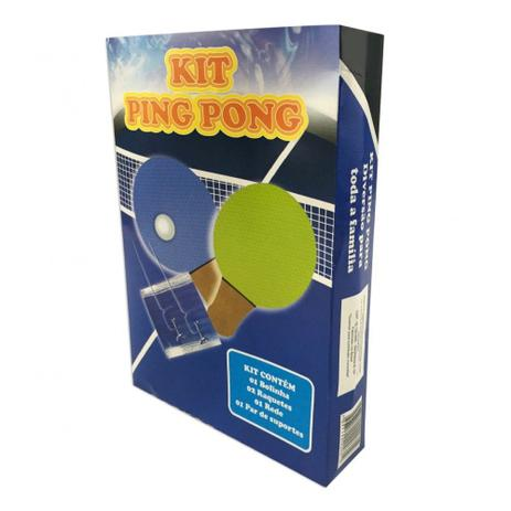 cc04a9faa Kit Completo Ping Pong 2 Raquetes 1 Bolinha e Rede ASE815 - Ahead Sports