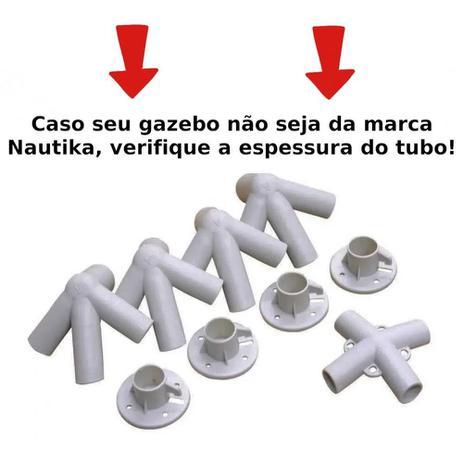 Imagem de Kit Conectores Reposicao 9 Pecas para Tenda Gazebo 3x3 M Base e Topo  Nautika