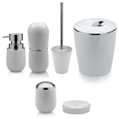Imagem de Kit Conjunto Jogo De Banheiro Toalete Completo 6 Peças Branco
