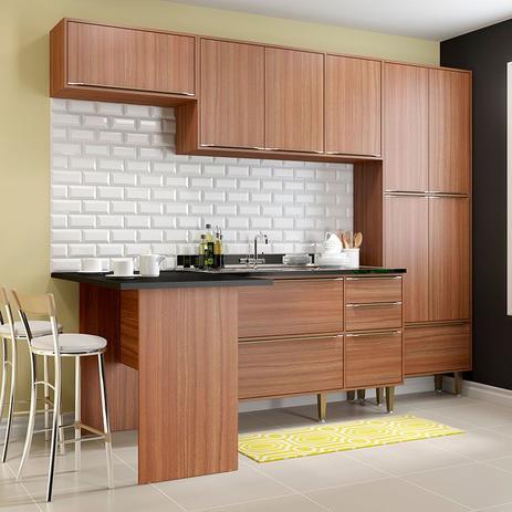 Imagem de Kit Cozinha 05 Peças 5454 Calábria - Balcão Pia Sem Tampo - Multimóveis