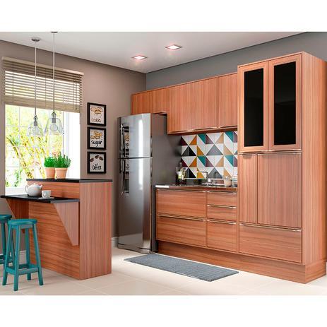 Imagem de Kit Cozinha 7 Peças 5463R Calábria  Balcão Pia Sem Tampo - Multimóveis