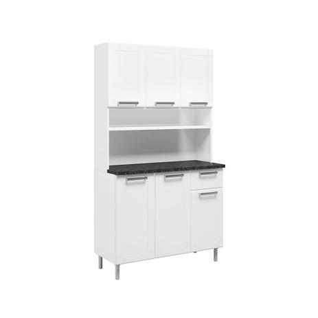 Imagem de Kit Cozinha Compacta 6142 6 Portas e 1 Gaveta Bertolini