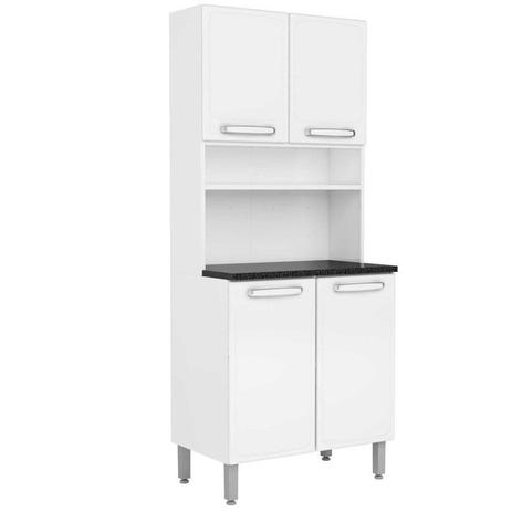 Imagem de Kit Cozinha Compacta Evidence Aço 4 Portas 7143 Branco - Bertolini