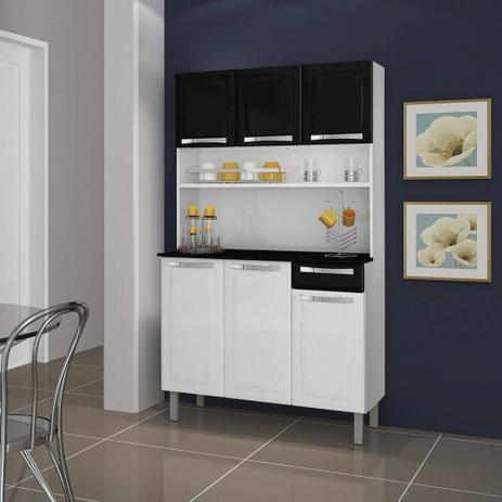 Imagem de Kit Cozinha Itatiaia Rose Compacta Branca/Preta I3G1-105