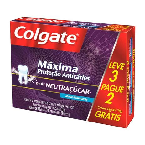 a1d9dc7d3 Menor preço em Kit Creme Dental Colgate Neutraçucar 70g 3 Unidades