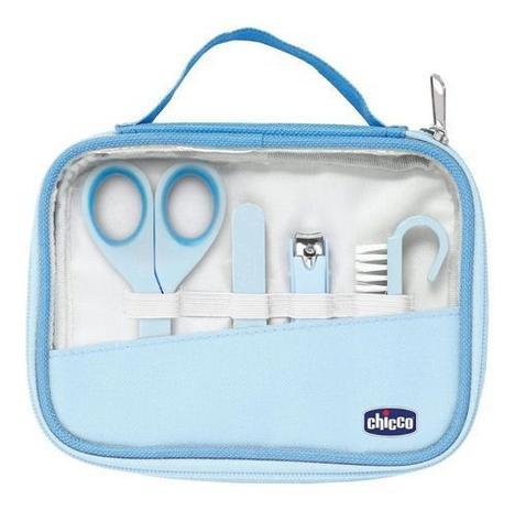 Imagem de Kit Cuidados E Higiene Do Bebê Manicure Completa Chicco azul
