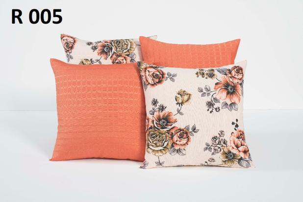 13d408d8e1b0fd Kit De Almofadas Decorativas 4 Peças 45cm Cheias Estampadas R5 - Gabi pires  enxovais
