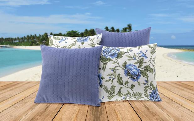 1b451f0c65aae2 Kit de Almofadas Decorativas Bia 8 Peças Azul - Reluz cortinas