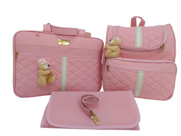 Imagem de kit de bolsa mala mochila de bebê de maternidade clara baby