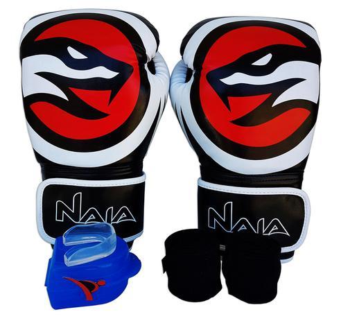 e8f6aa206 Kit De Boxe   Muay Thai 14oz - Preto - OPP - Naja - Naja extreme ...