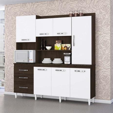 c6358f3ead8 Kit de Cozinha Mirela 7 PT 3 GV Ravello e Branco - Aramóveis ...
