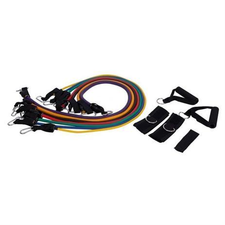 Imagem de Kit De Extensores Com 7 Elásticos Liveup Sports Ls3634