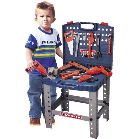 Imagem de Kit de Ferramentas Infantil com Bancada e 53 Peças BELFIX