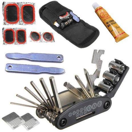 Imagem de Kit DE Ferramentas para Bike e Bicicleta com Reparo de Pneu e Chaves para Manutenção