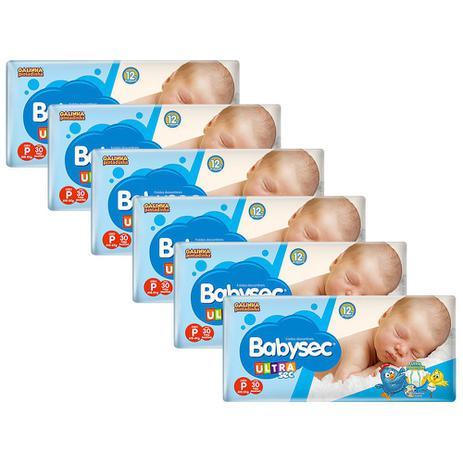 Imagem de Kit de Fraldas Babysec Ultrasec Jumbo Tamanho P 180 Unidades