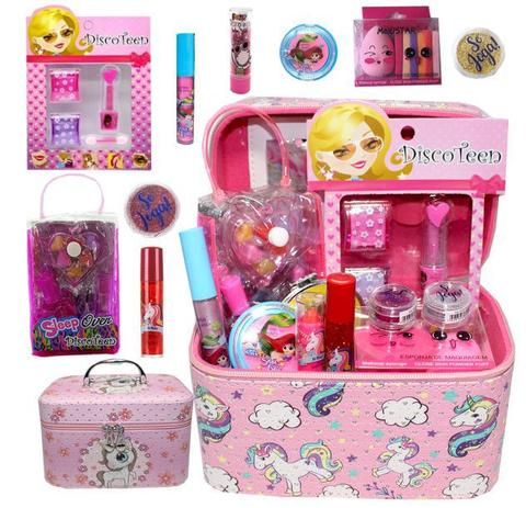 Imagem de Kit de maquiagem infantil com maleta