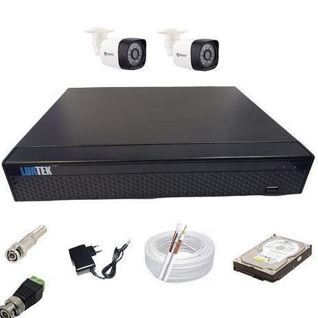Imagem de Kit de Monitoramento Residencial e Comercial 2 Câmeras Digitais Infravermelho + DVR 4 Canais