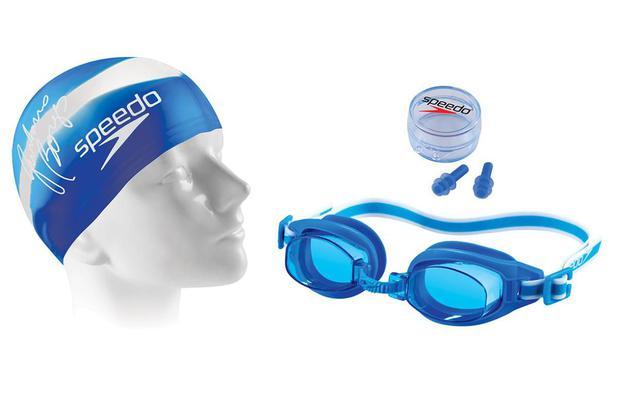 Kit de Natação Speedo Swimkit 30 Azul (Touca 5a035e3187a