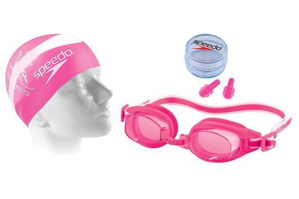 4d3420f53 Kit de Natação Speedo Swimkit 30 Rosa (Touca