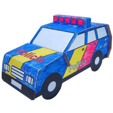Kit De Papelão Carro De Polícia Kits For Kids No Magalu