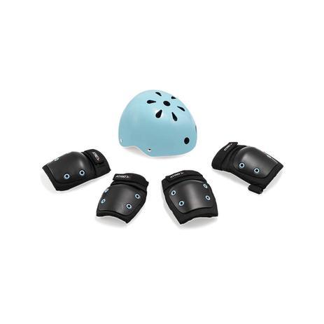 dedb6920fd Kit de Proteção Infantil Azul Atrio com Capacete G + Joelheiras e  Cotoveleiras M - ES183