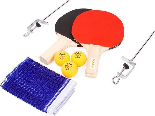 Imagem de Kit de Tênis de Mesa Vollo com 2 Raquetes, 3 Bolas e Rede VT610-R