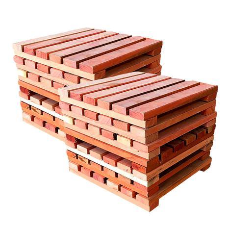 Imagem de Kit deck modular 30x30cm eucalipto 20 placas - mader silva