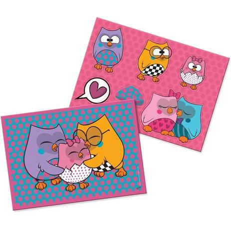 Imagem de Kit Decorativo Cartonado Bubu e as Corujinhas Festcolor