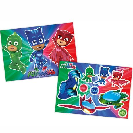 bec2aff40 Kit Decorativo Cartonado PJ Masks Regina Festas - Festabox - Artigos ...