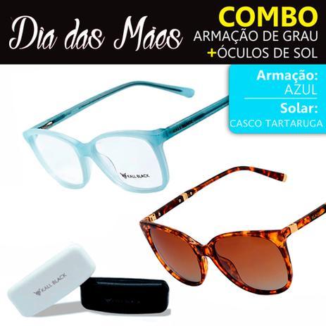c1d1a6a73 Kit Dias das Mães Óculos de Sol e Armação de Óculos de Grau Kallblack