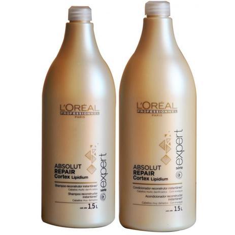 e6f2847a8 Kit Duo Loréal Professionnel Absolut Repair Cortex Lipidium Shampoo + Condicionador  1,5L - Loréal professionnel