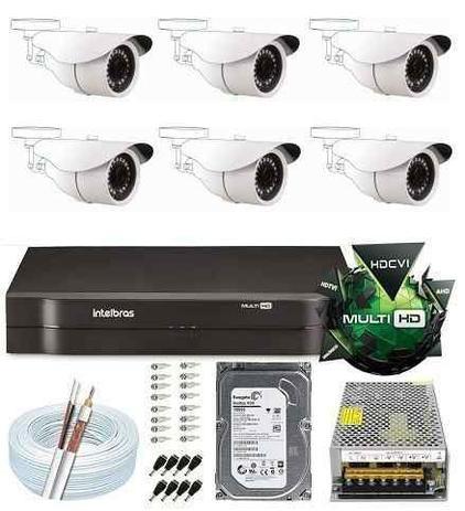 Imagem de Kit Dvr 8 Canais Hd Intelbras 6 Câmeras 2 Mega Full Hd 1080p