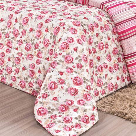 0c40390327 Kit Edredom Requinte Pink King - Percal 180 Fios - Dupla Face - 03 Peças -  João paulo enxovais