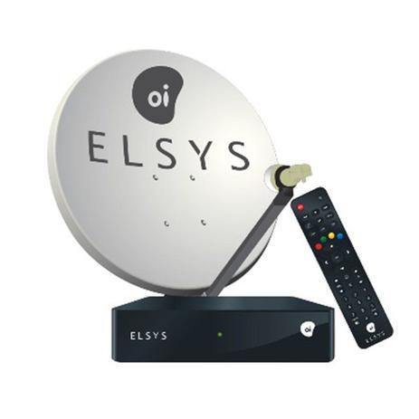 Imagem de Kit Elsys Oi Tv Livre Hd Antena 60cm 17m Cabos Lnb Duplo  Parafusos