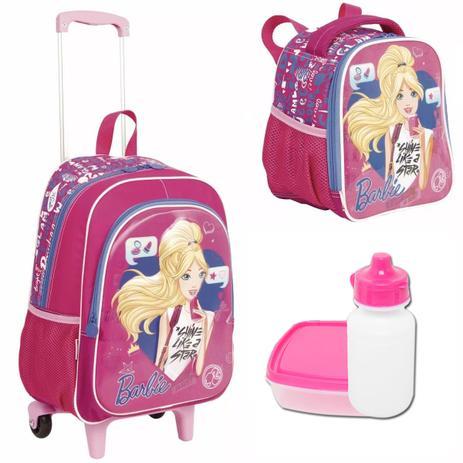 3b89e5434 Kit Escolar Infantil Mochila Barbie 17 X Sestini Tamanho G - Mochila ...