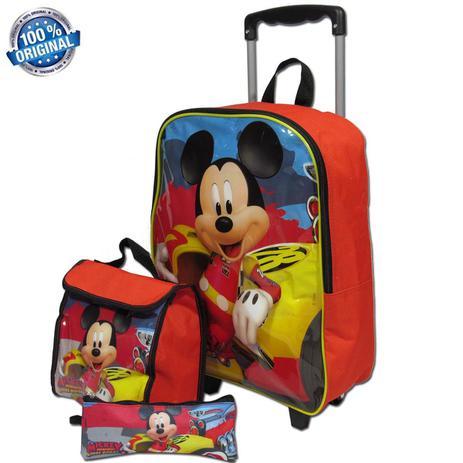 9fac527e6 Kit Escolar Mochila Tam G Mickey Mouse Sestini - Mochila Infantil ...