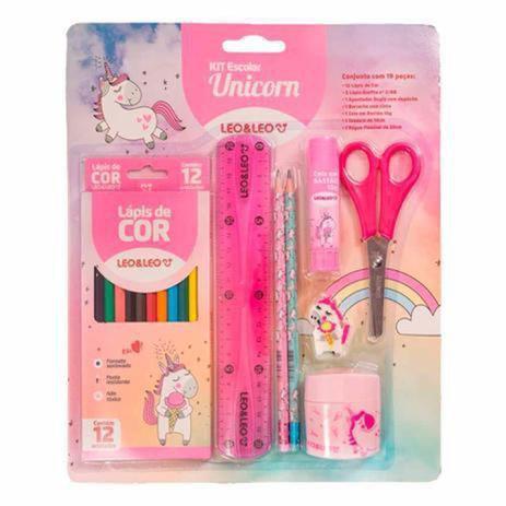 Imagem de Kit Escolar Unicorn Kit Com 8 Peças Leo&leo - Leo & Leo