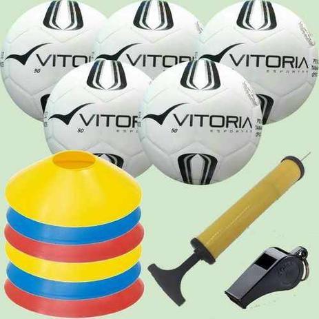 5bf69d8c546b8 Kit Escolinha De Futsal Sub 9 Pré-mirim - Bola Prata Tam 50 - Vitoria  esportes