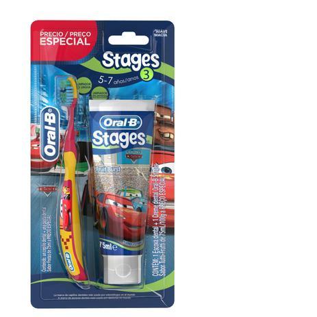 Imagem de Kit Escova Dental Oral B + Creme Dental Stages