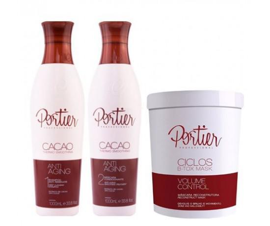 d1995764f Kit Escova Progressiva Portier Cacao + Bottox Ciclos Portier - Linha ...