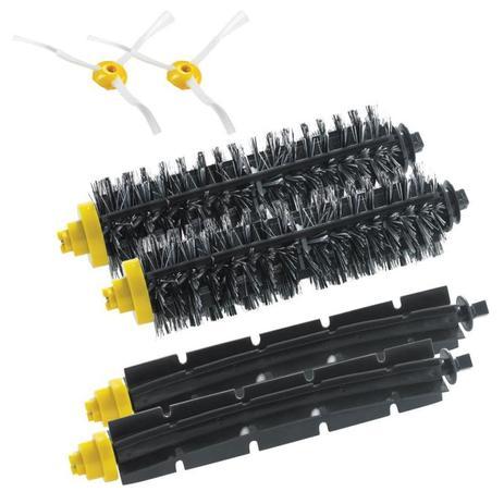 Imagem de Kit Escovas Cerdas/Lateral 2 Unid Cada Irobot Roomba 600/700